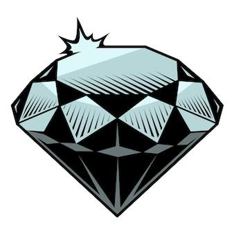 Ilustracja diamentu na białym tle.
