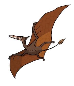 Ilustracja dinozaur pteranodon w stylu cartoon.