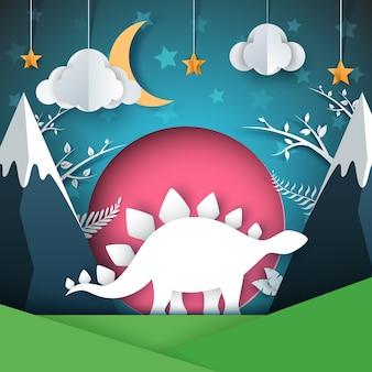 Ilustracja dinozaura