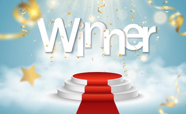 Ilustracja dla zdobywców nagród cokół lub platforma do uhonorowania zdobywców nagród