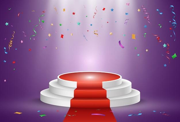 Ilustracja dla zdobywców nagród. cokół lub platforma do uhonorowania zwycięzców.