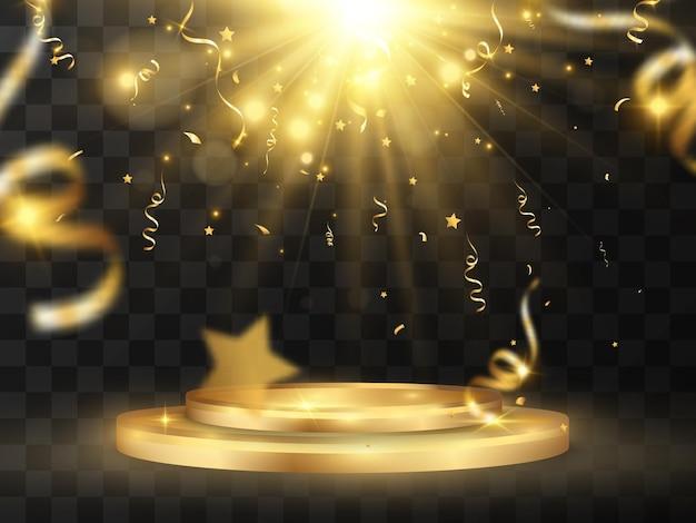 Ilustracja dla zwycięzców cokół lub platforma do uhonorowania zwycięzców