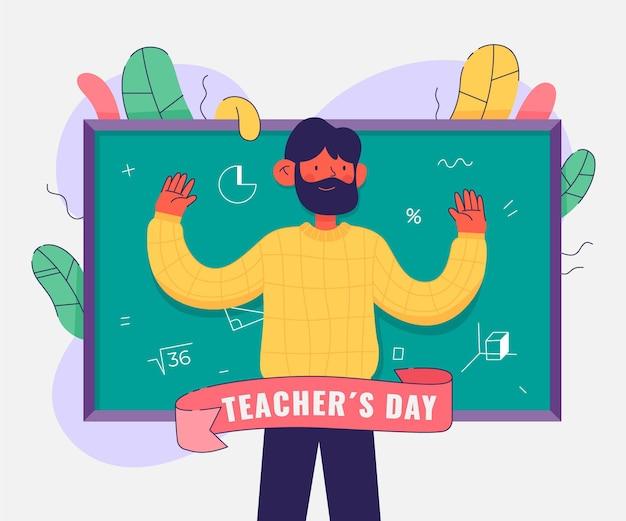 Ilustracja dnia nauczycieli płaski