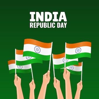 Ilustracja dnia republiki indii