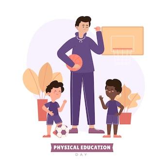 Ilustracja dnia wychowania fizycznego