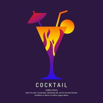 Ilustracja do menu barowego koktajl alkoholowy. rysunek drinka