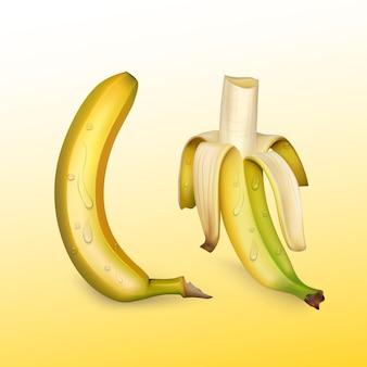 Ilustracja dojrzałe banany