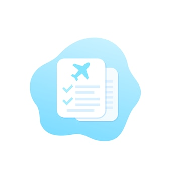 Ilustracja dokumentów ubezpieczenia podróży