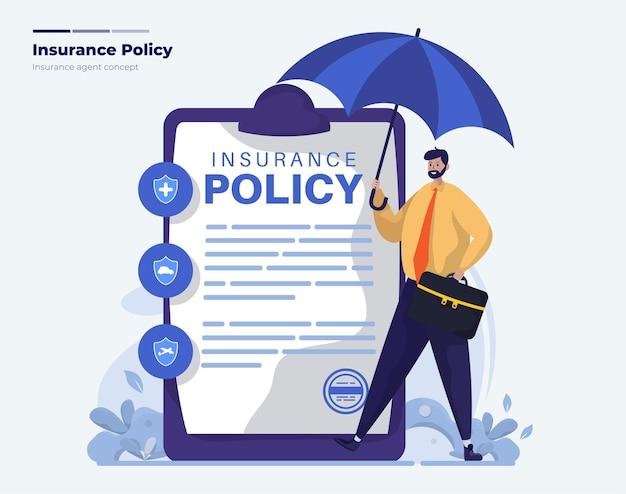 Ilustracja dokumentu polisy ubezpieczeniowej