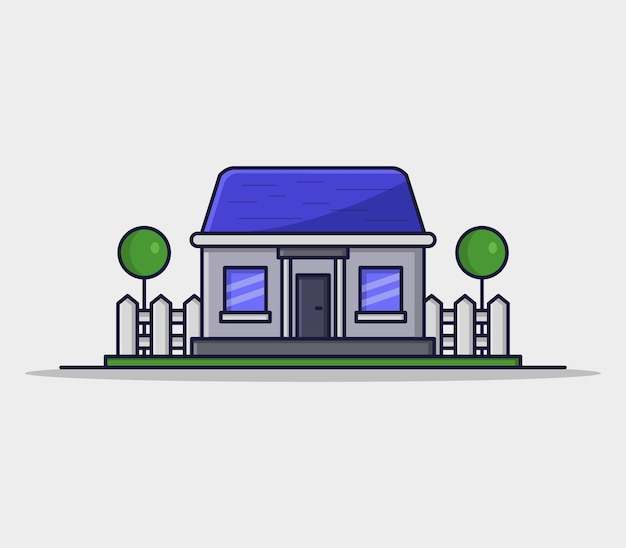Ilustracja dom w stylu kreskówki