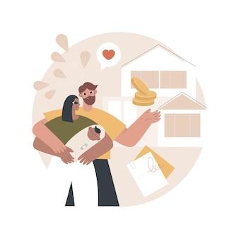 Ilustracja domu rodzinnego