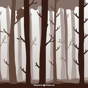 Ilustracja drzew leśnych