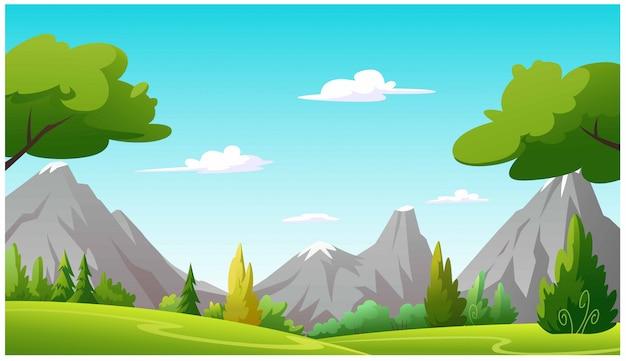 Ilustracja drzewa i grafika dżungli