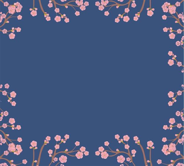 Ilustracja drzewa sakura