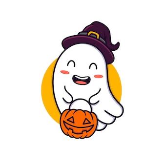 Ilustracja duch halloween