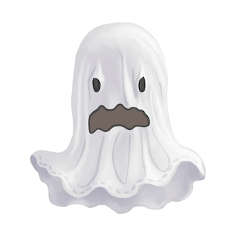 Ilustracja duch ikony wektor dla Halloween