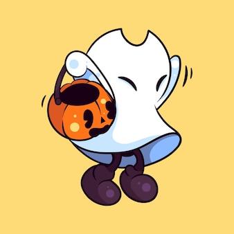Ilustracja ducha halloween dla postaci, naklejki, ilustracji t-shirt