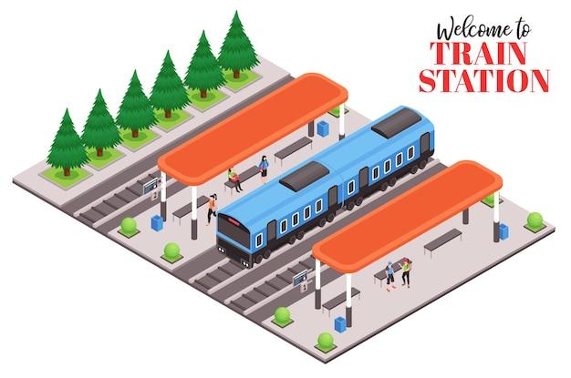 Ilustracja dworca kolejowego