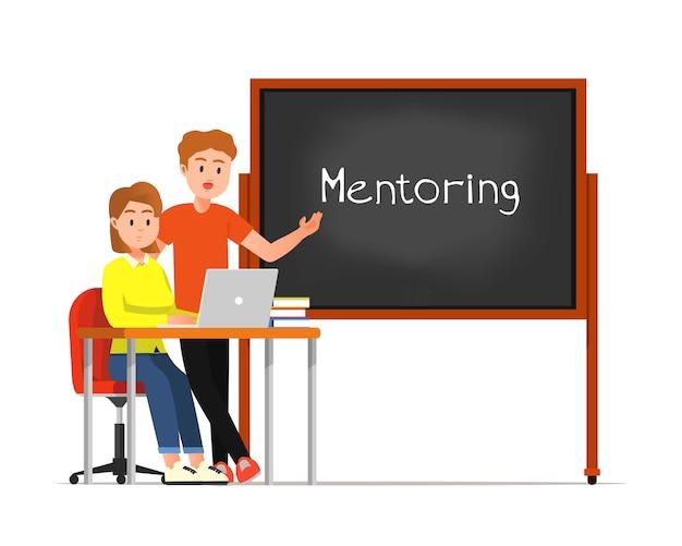 Ilustracja działań mentorskich