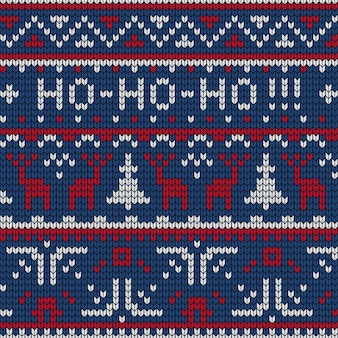 Ilustracja dzianiny wzór sweter z uroczymi sylwetkami