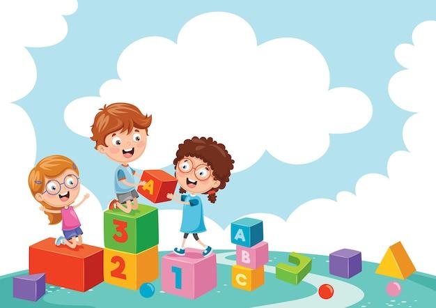 Ilustracja dzieci bawiących się