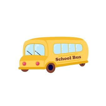 Ilustracja Dzieci W Wieku Szkolnym Jeżdżących żółtym Szkolnym Autobusem Edukacyjnym Premium Wektorów