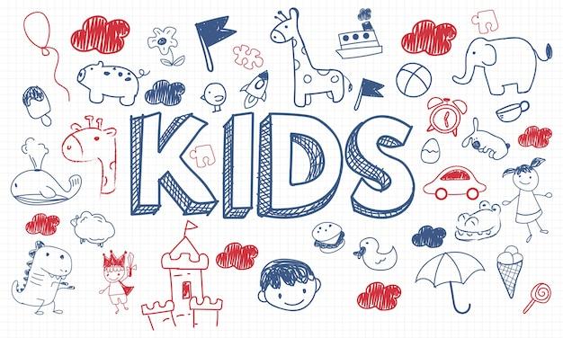 Ilustracja dzieciaka pojęcie