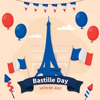 Ilustracja dzień bastylii