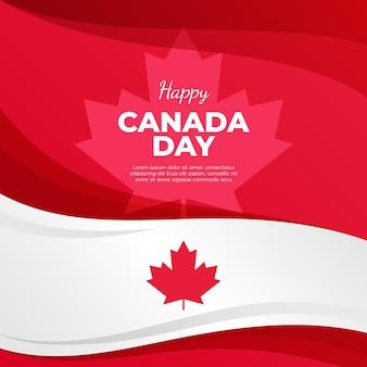 Ilustracja dzień kanady gradientu