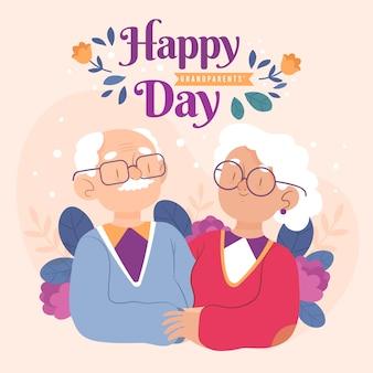 Ilustracja dzień krajowych dziadków