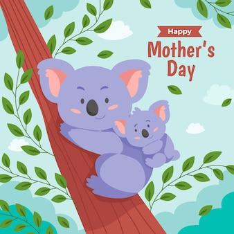 Ilustracja dzień matki płaski