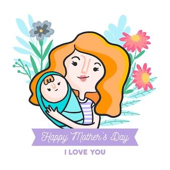 Ilustracja dzień matki