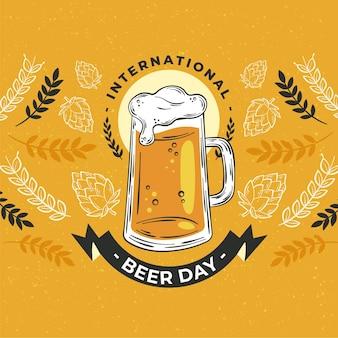 Ilustracja dzień międzynarodowego piwa