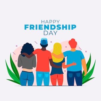Ilustracja dzień międzynarodowej przyjaźni