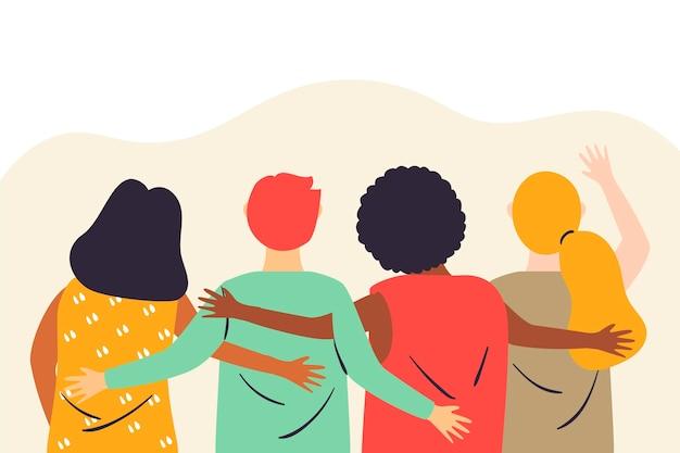 Ilustracja dzień młodzieży z ludźmi