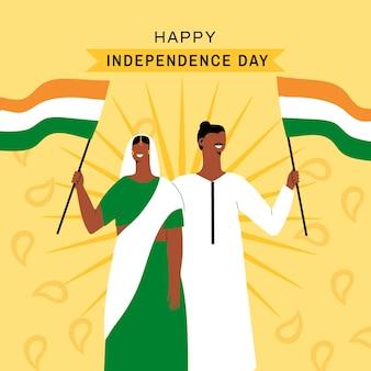 Ilustracja dzień niepodległości indii