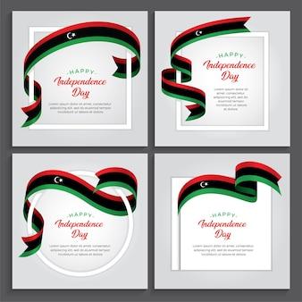 Ilustracja dzień niepodległości libii