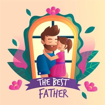 Ilustracja dzień ojca gradientu