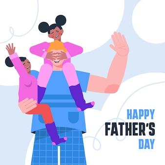 Ilustracja dzień ojca płaski ekologiczny