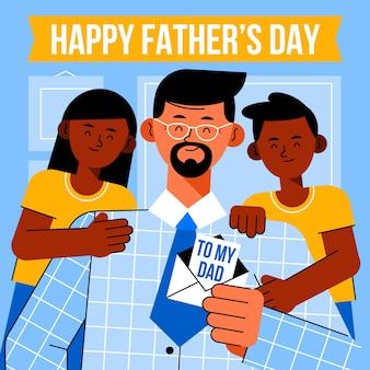 Ilustracja dzień ojca płaski