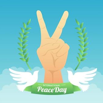 Ilustracja dzień pokoju międzynarodowego