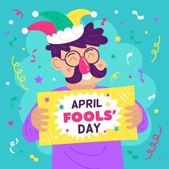 Ilustracja Dzień Prima Aprilis Darmowych Wektorów