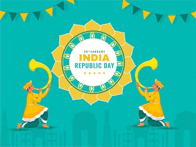 Ilustracja dzień republiki indii
