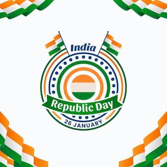 Ilustracja dzień republiki płaski