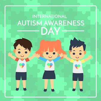 Ilustracja dzień świadomości autyzmu