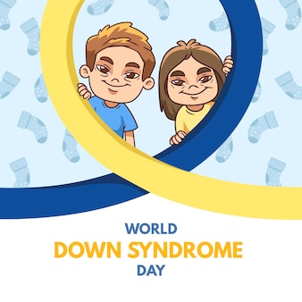 Ilustracja dzień światowego zespołu downa