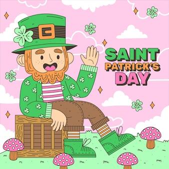 Ilustracja dzień świętego patryka