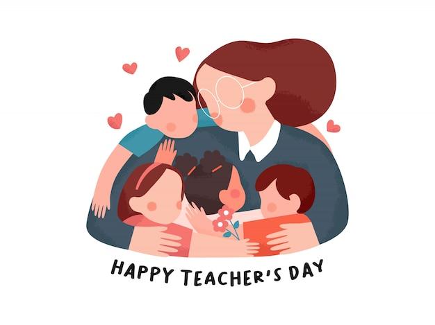 Ilustracja dzień szczęśliwy nauczyciel