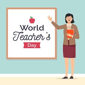 Ilustracja dzień szczęśliwy nauczycieli