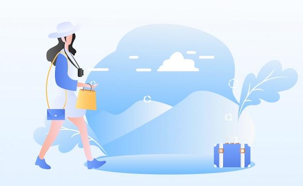 Ilustracja dzień turystyki